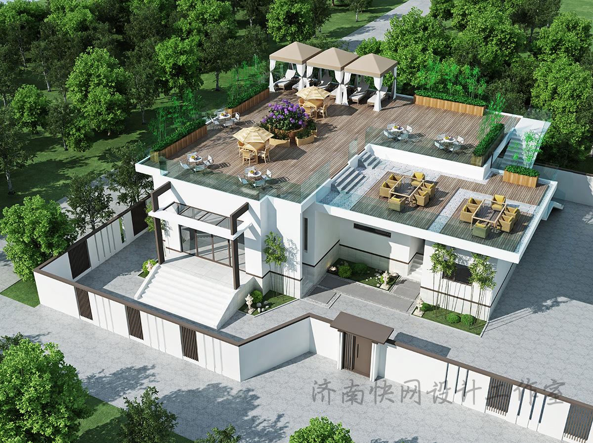 别墅景观设计效果图