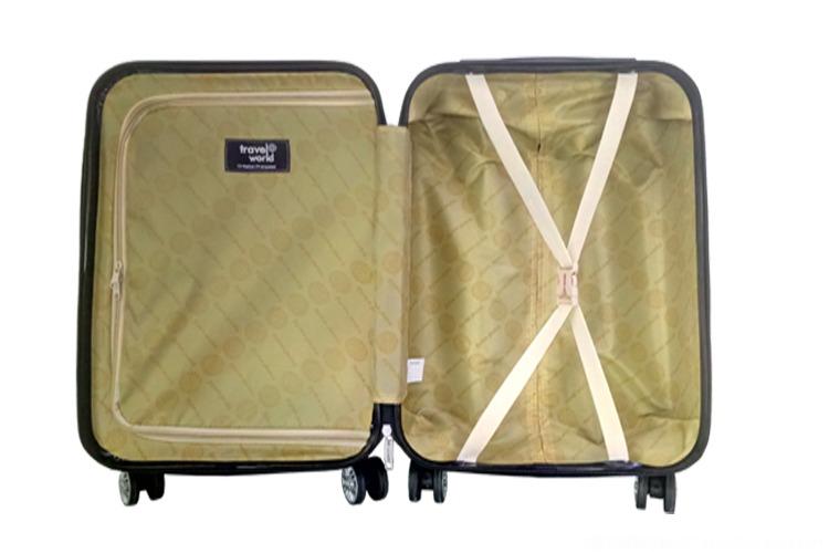 東莞拉桿箱廠家文峰箱包廠訂制定做ABS拉鏈拉桿箱行李箱旅行箱 普通密碼鎖萬向輪190D內里