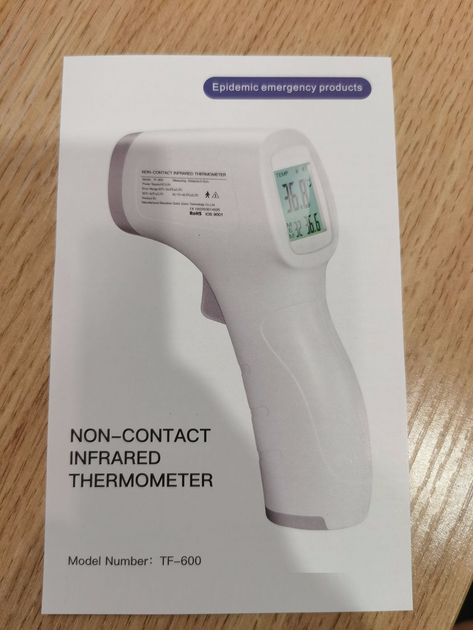 Non-Contact Infrard Thermometer forehead thermometer stocks good price good quality