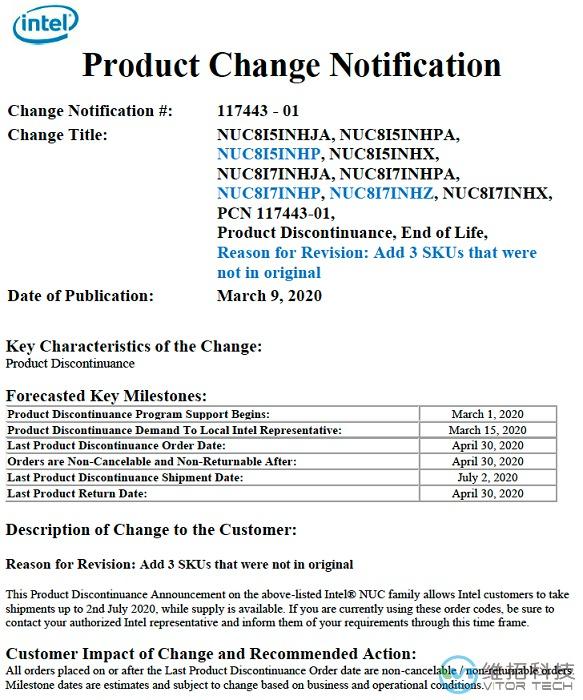 intel change notification