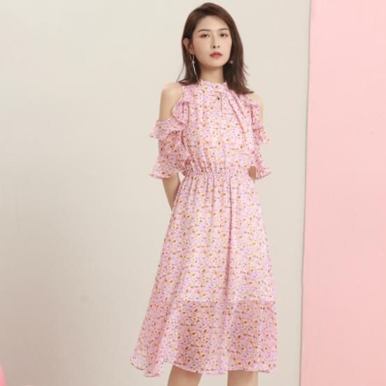 新款优雅雪纺连衣裙-3lyq030