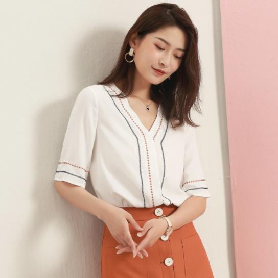 新品优雅雪纺衬衫-2cs023