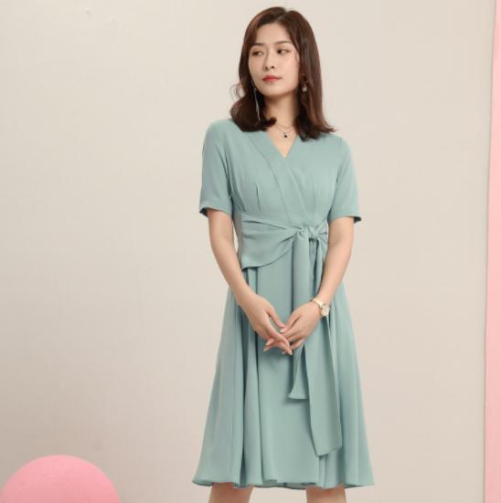 新款优雅职业连衣裙-3lyq031