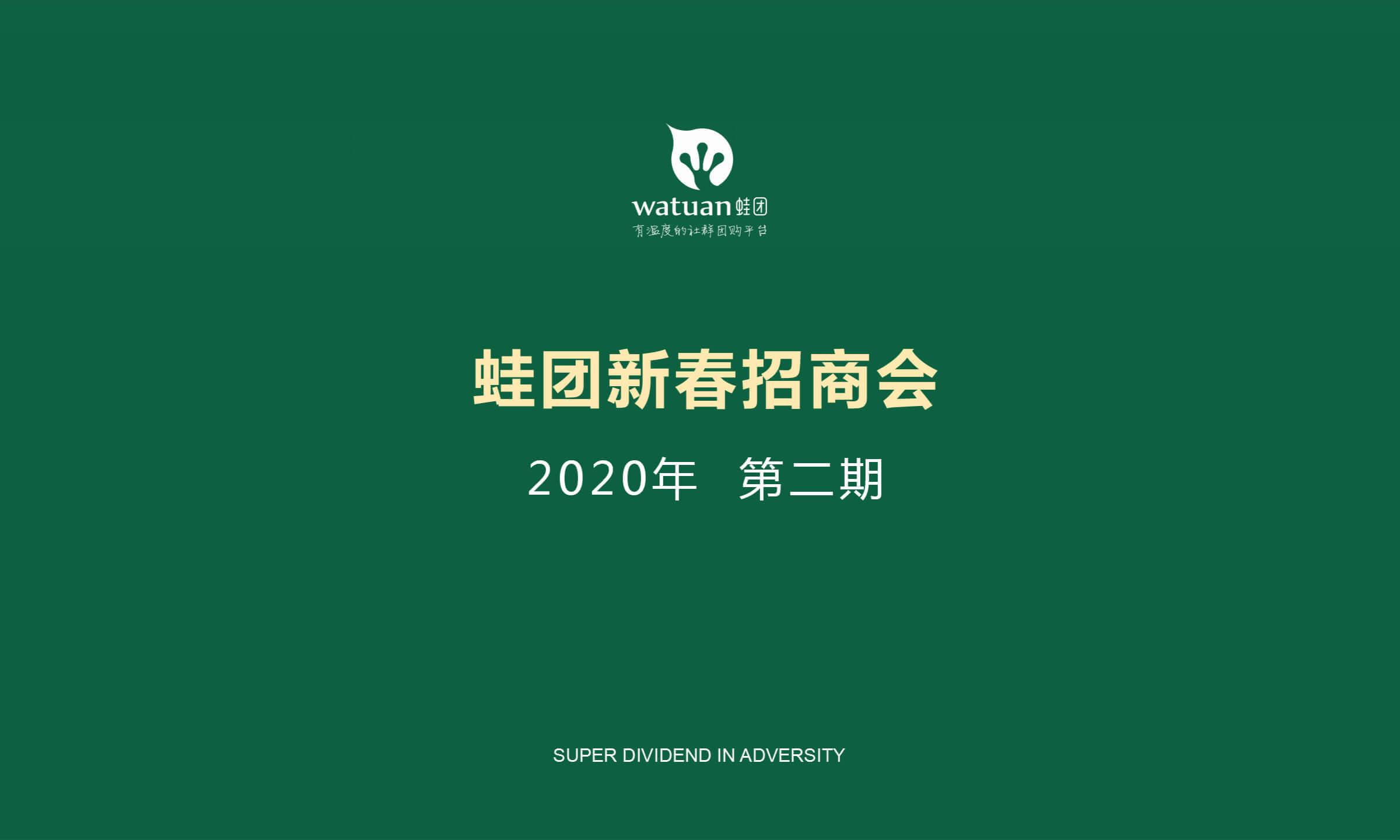 蛙团新春招商会(第二期)