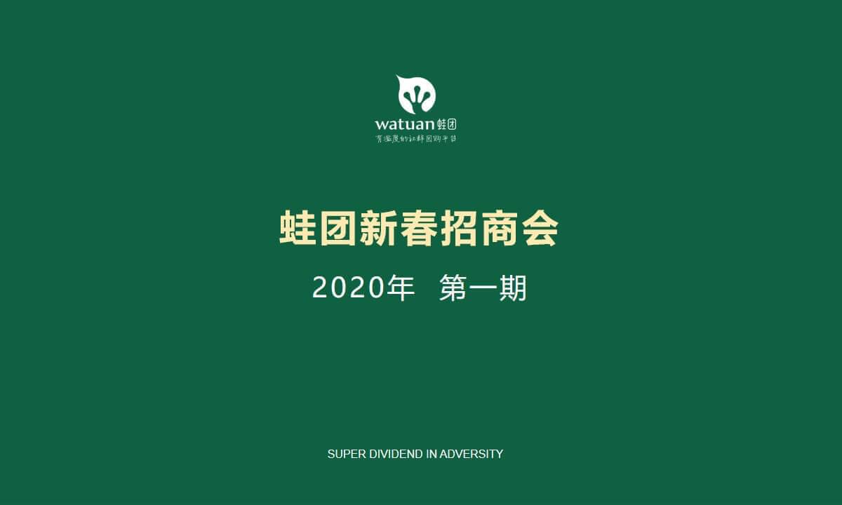 蛙团新春招商会(第一期)
