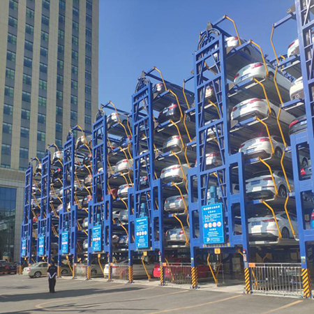 Jingmen Second People's Hospital vertical circulation type three-dimensional parking equipment