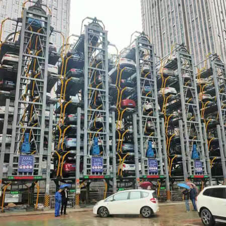 武汉市公安局治安支队垂直循环类立体停车设备