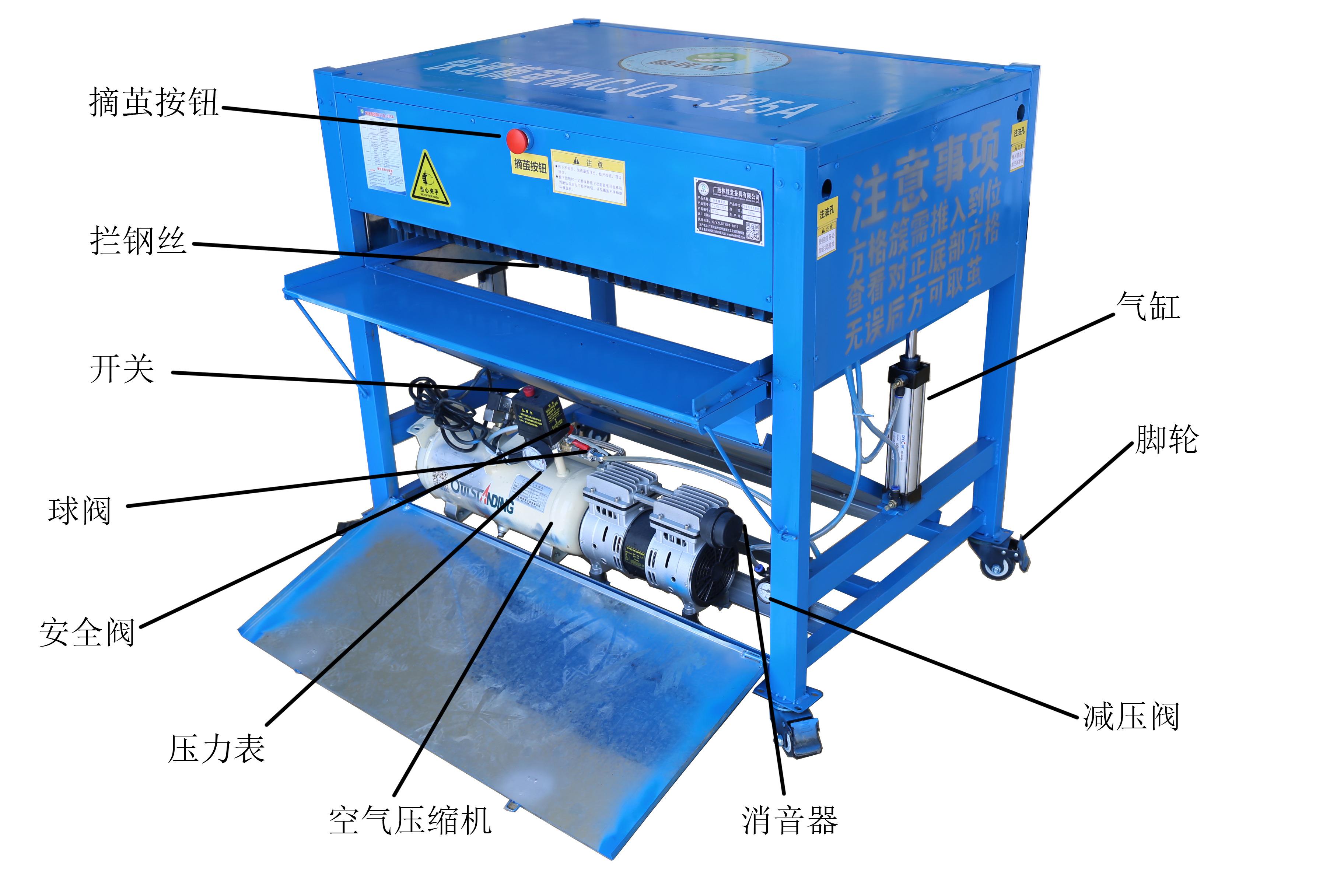 快速摘茧机—气动式(电机驱动)4CJQ-325A(购机补贴版)