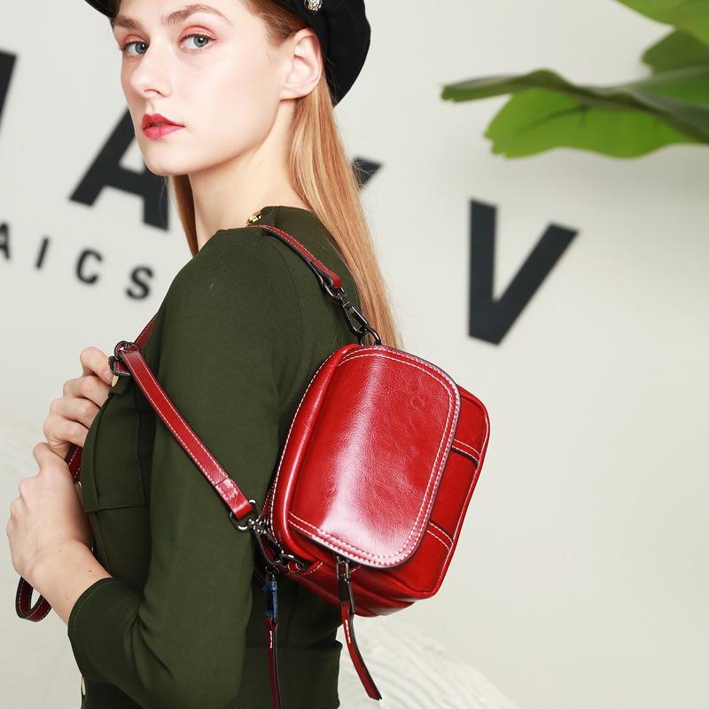 新款时尚手提包 潮流百搭bags斜挎包 单肩复古休闲女包