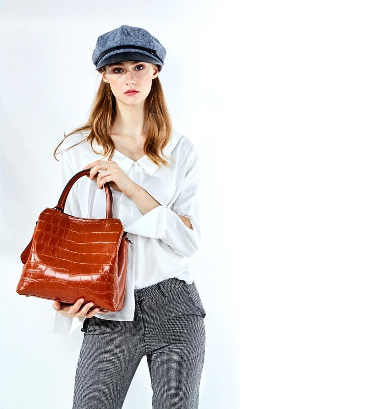 欧美风范新款托特包 软皮牛皮大容量手提单肩斜挎女包