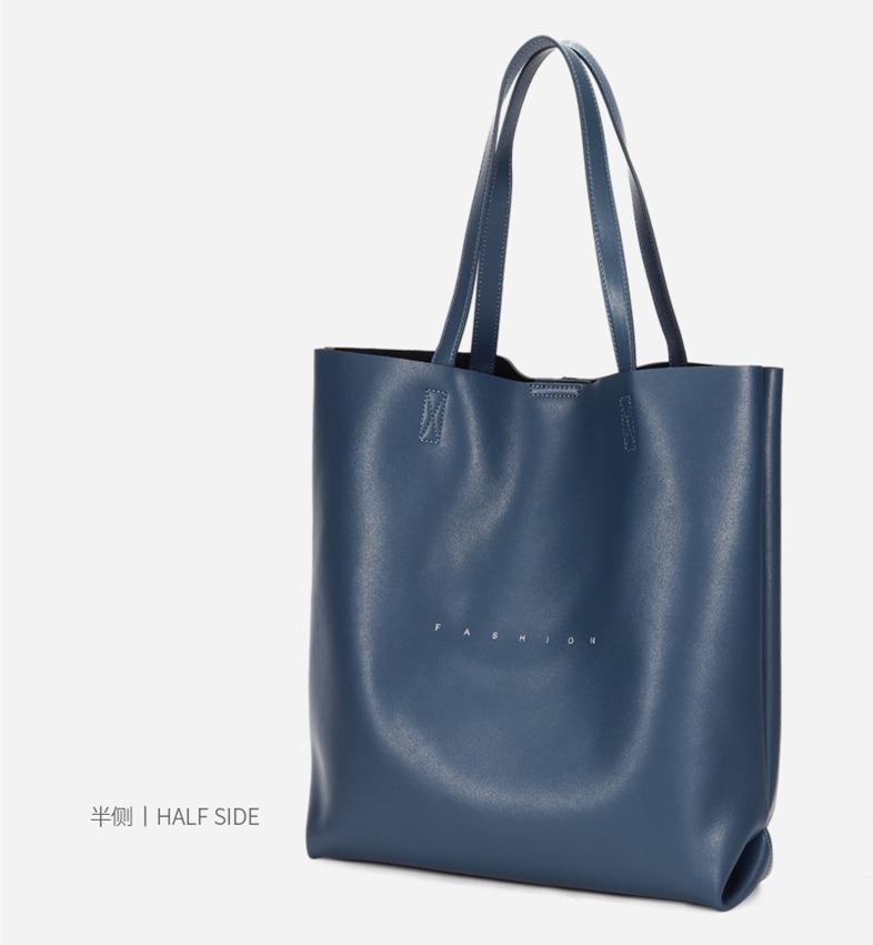 新款托特包 欧美时尚包包 单肩包通勤手提包挎包真皮女包