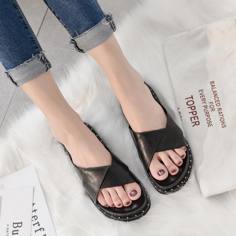 新款女式凉鞋 潮款春夏外穿休闲凉拖 增高厚底凉鞋 大码女鞋
