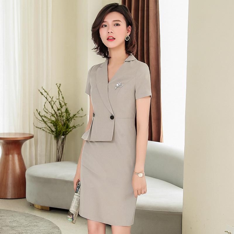 时尚气质职业连衣裙女 新款夏季女神范上班or工装工作服 一步裙