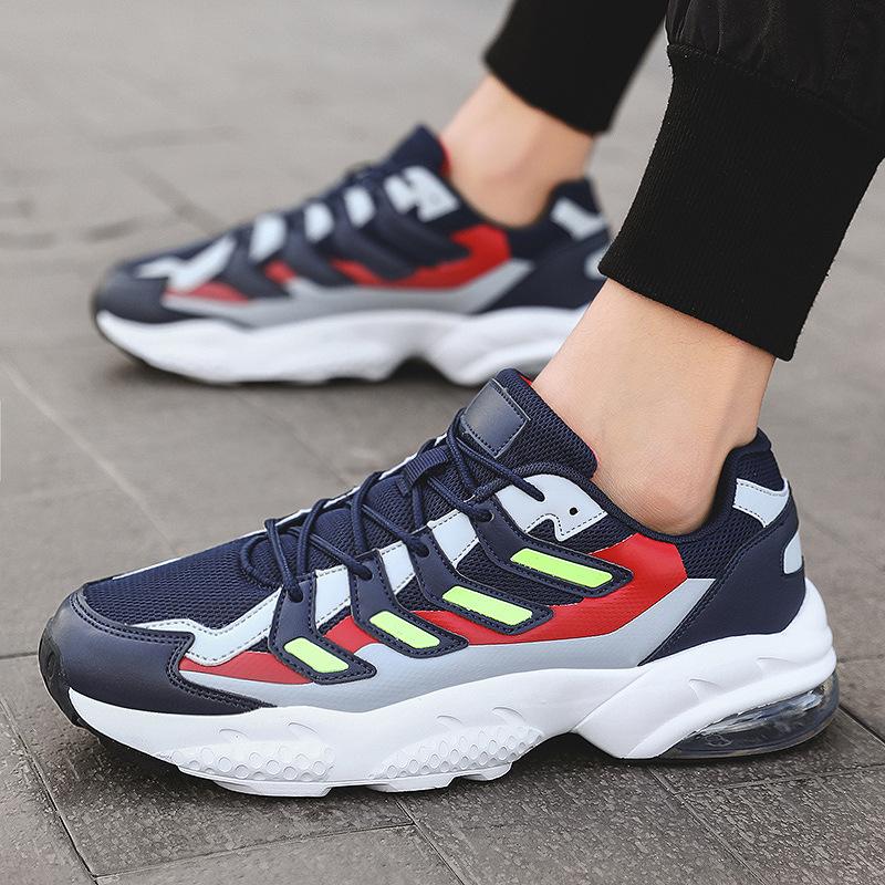 潮流新款男鞋 跨境复古气垫潮鞋 大码老爹鞋 潮流运动鞋 休闲运动男鞋