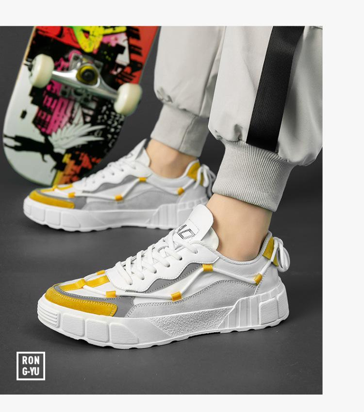 春夏新款韩版时尚帮带潮鞋男 休闲老爹鞋 学生板鞋 流行男鞋