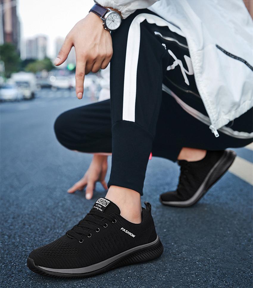潮流爆款 时尚休闲鞋男 大码网布鞋 透气运动鞋 户外跑步鞋
