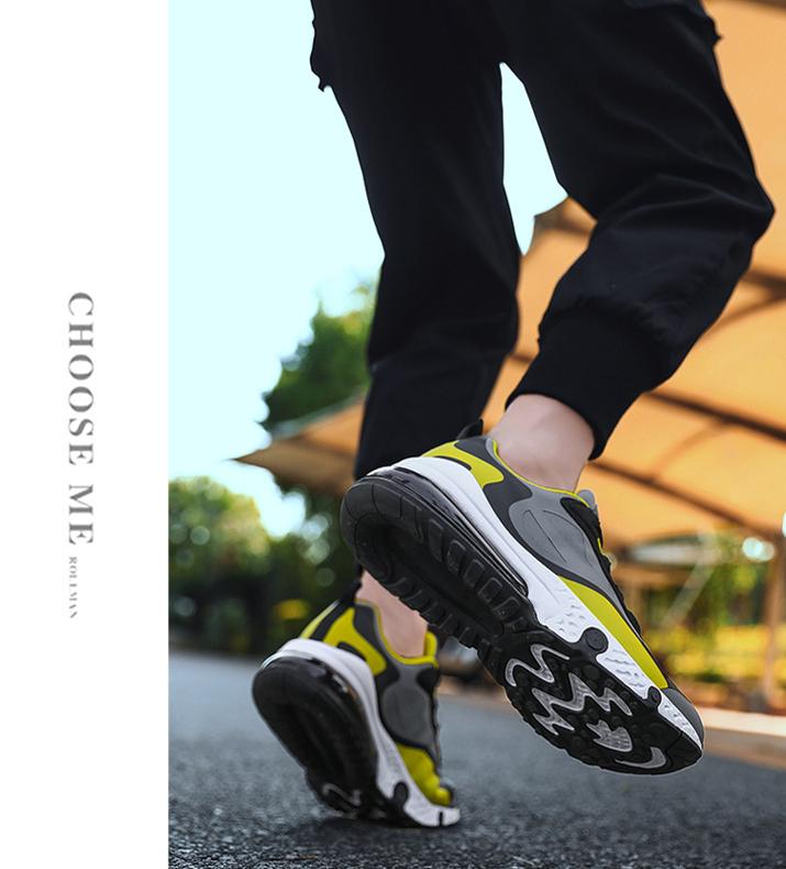 新款潮鞋 气垫鞋潮鞋 大码气垫运动鞋男 春夏休闲运动鞋