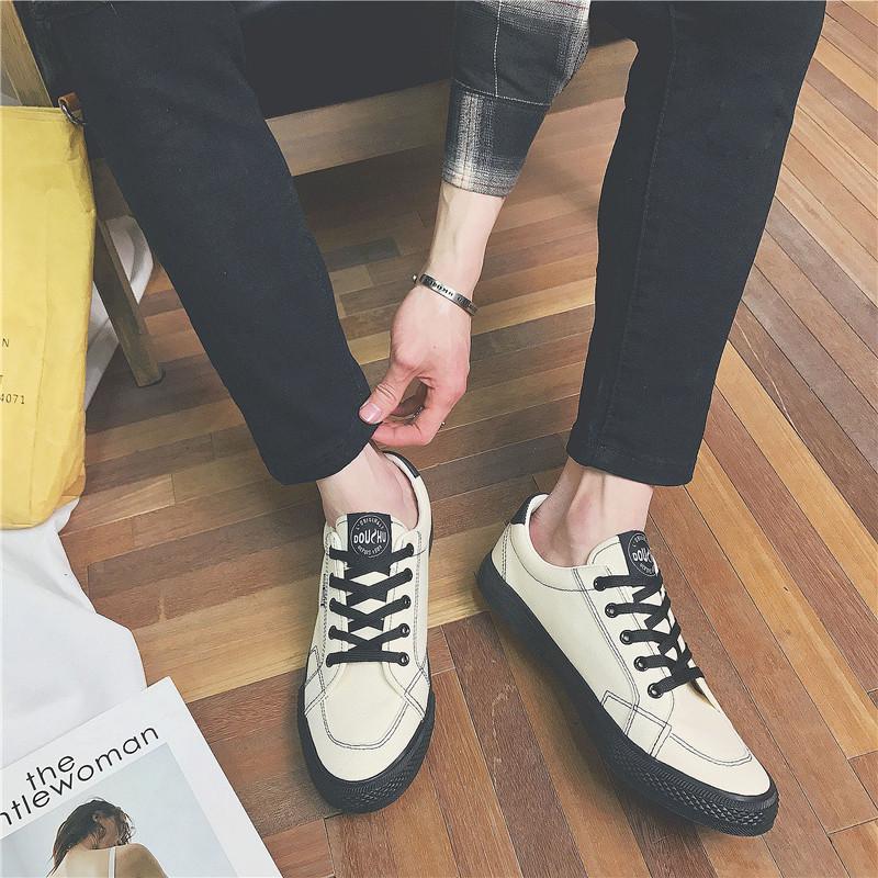 春夏新款 港风学生帆布鞋 韩版男鞋 潮流休闲鞋 学生板鞋