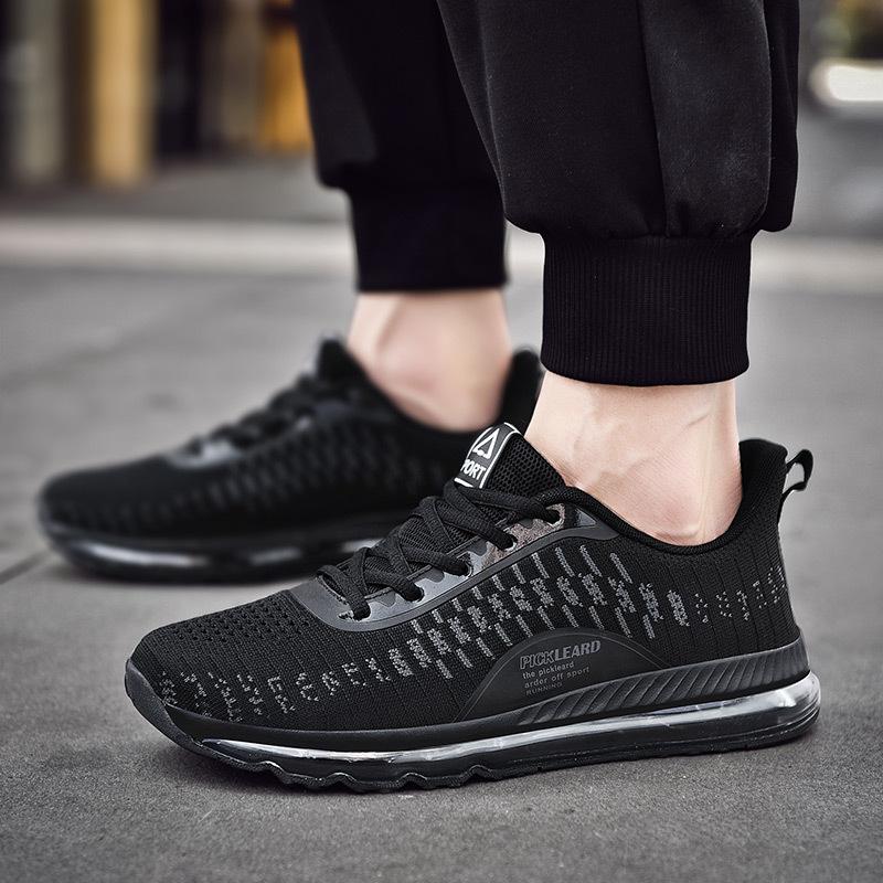 春夏新款跑步鞋 全脚掌气垫鞋 潮鞋 大码运动鞋 春季休闲运动男鞋