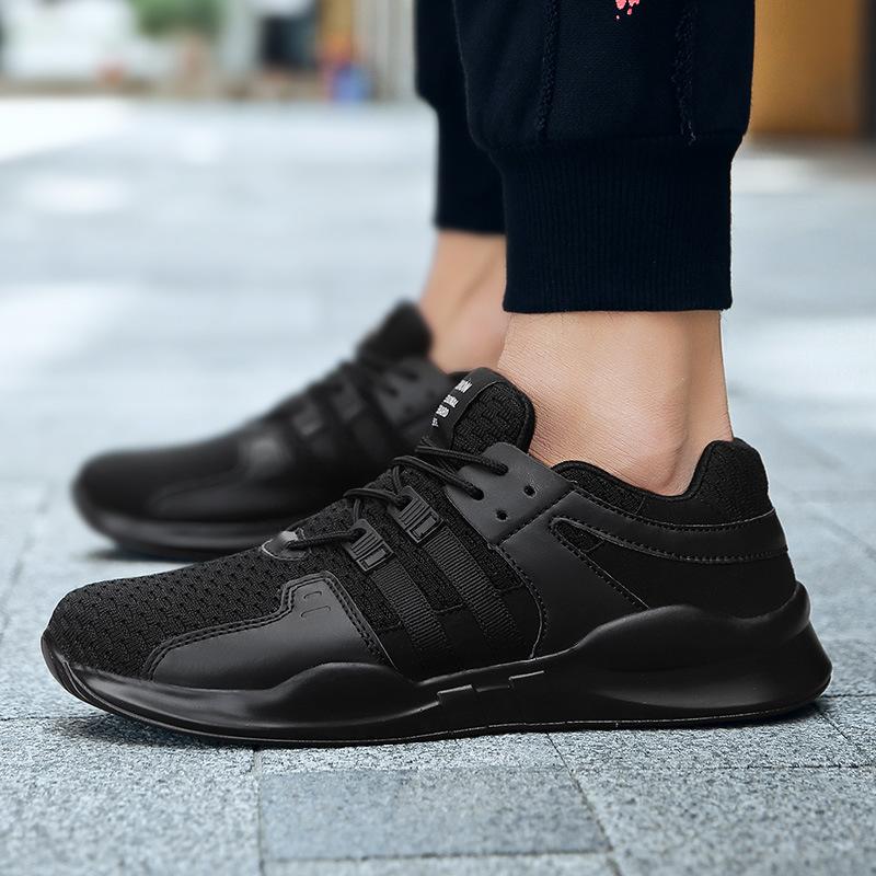 跨境大码气垫休闲鞋 夏季户外男鞋 轻便运动鞋 透气网布鞋 时尚跑步鞋