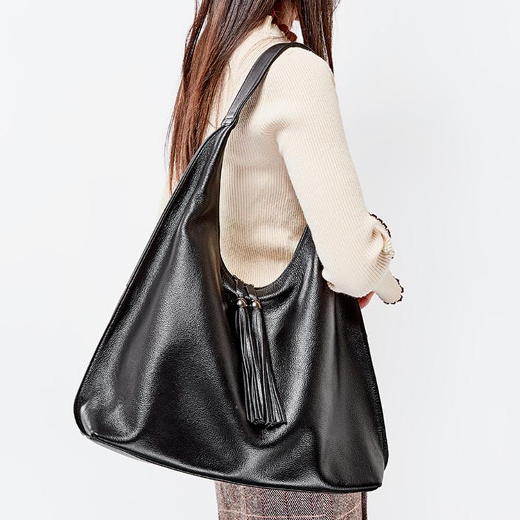 新款欧美时尚真皮女包 手提包 欧美风范流苏头层牛皮单肩大包 托特包
