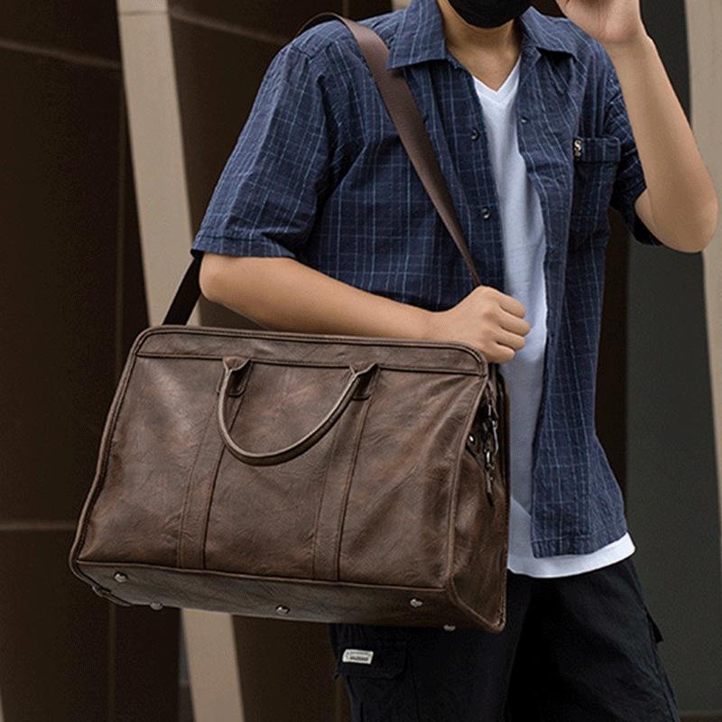 时尚商务出差旅行包 手提男士大容量包 斜跨单肩包 休闲公文包 旅行包