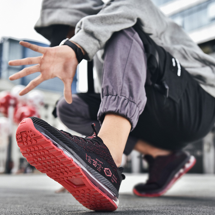 春夏新款 跑步鞋 全脚掌气垫鞋 潮鞋 大码运动鞋 春季休闲运动男鞋
