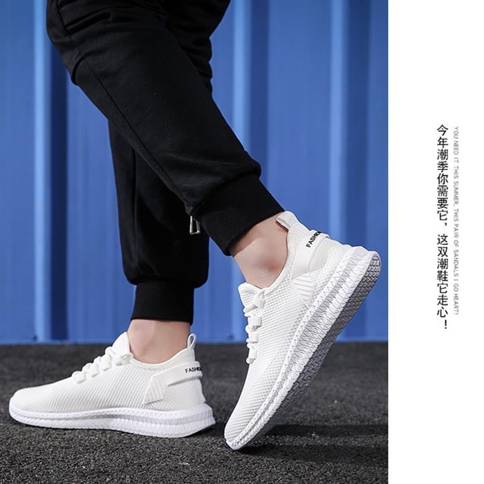 春夏新款 运动鞋 飞织休闲单鞋 青年潮鞋 韩版潮流透气网面跑步鞋