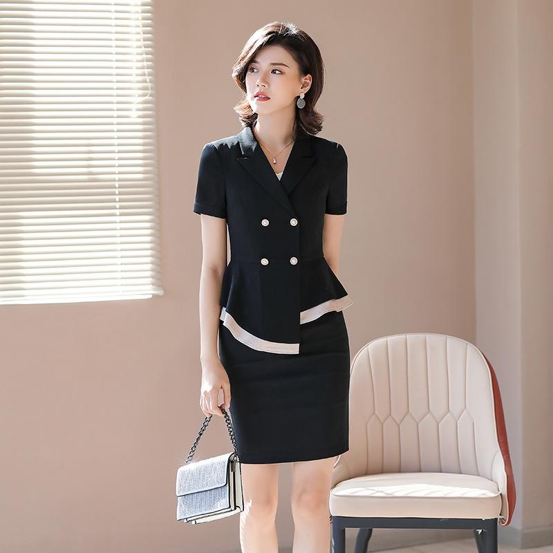 春夏新款 时尚轻奢西装短裙套装女 新款休闲通勤西装长裤套装