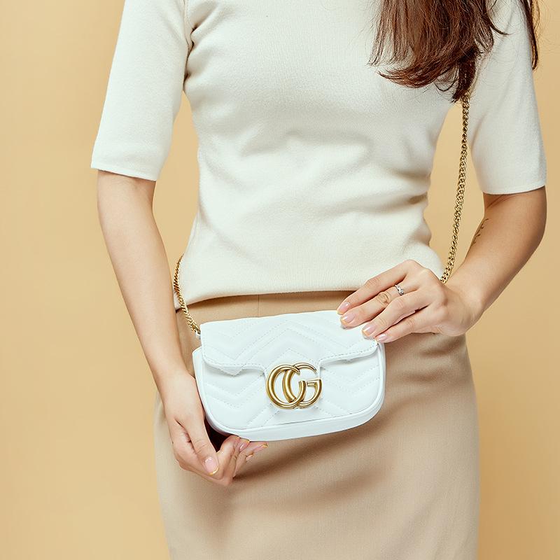 新款时尚 复古潮流牛皮小包 单肩斜跨女士包包 经典百搭小包