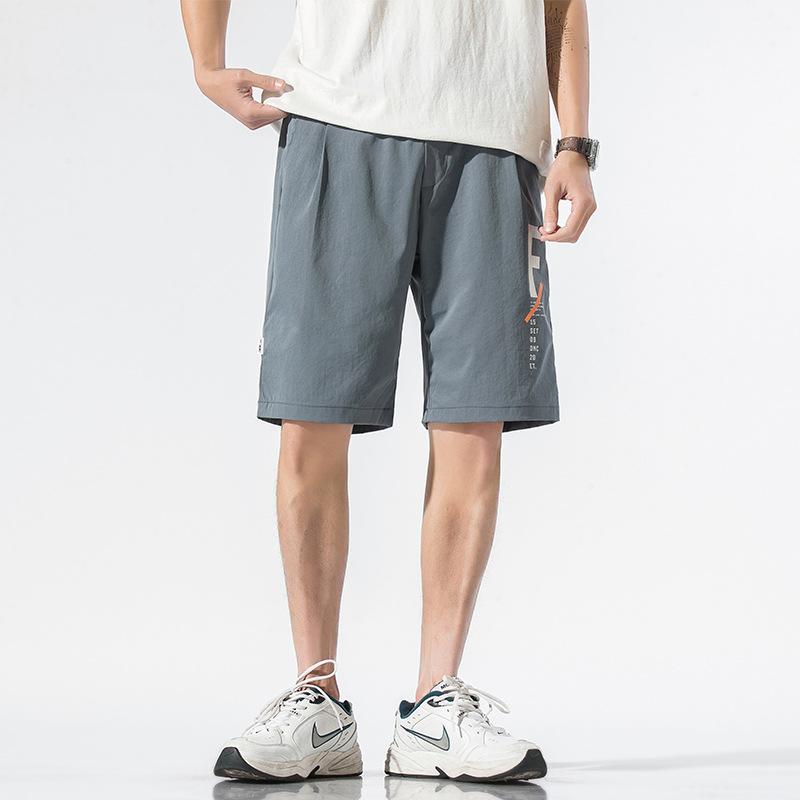夏季男士短裤 新款韩版潮流松紧腰宽松短裤 运动休闲五分裤