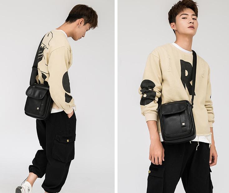 时尚潮流单肩包 男士迷你小包 多功能两用防水斜挎包 手机腰包 新款ins潮