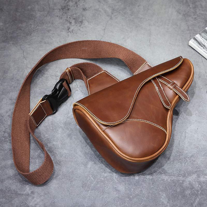 新款 经典特色单肩包斜挎包 复古休闲韩版时尚男士手机户外运动腰包