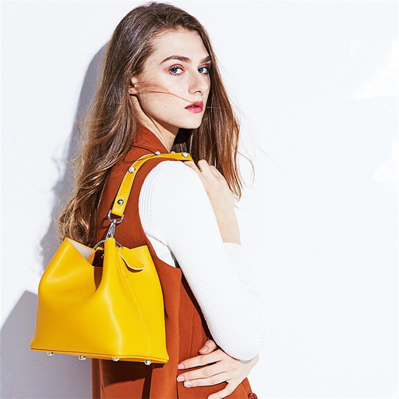 新款ins水桶包 韩版时尚女包 单肩斜挎手提小包