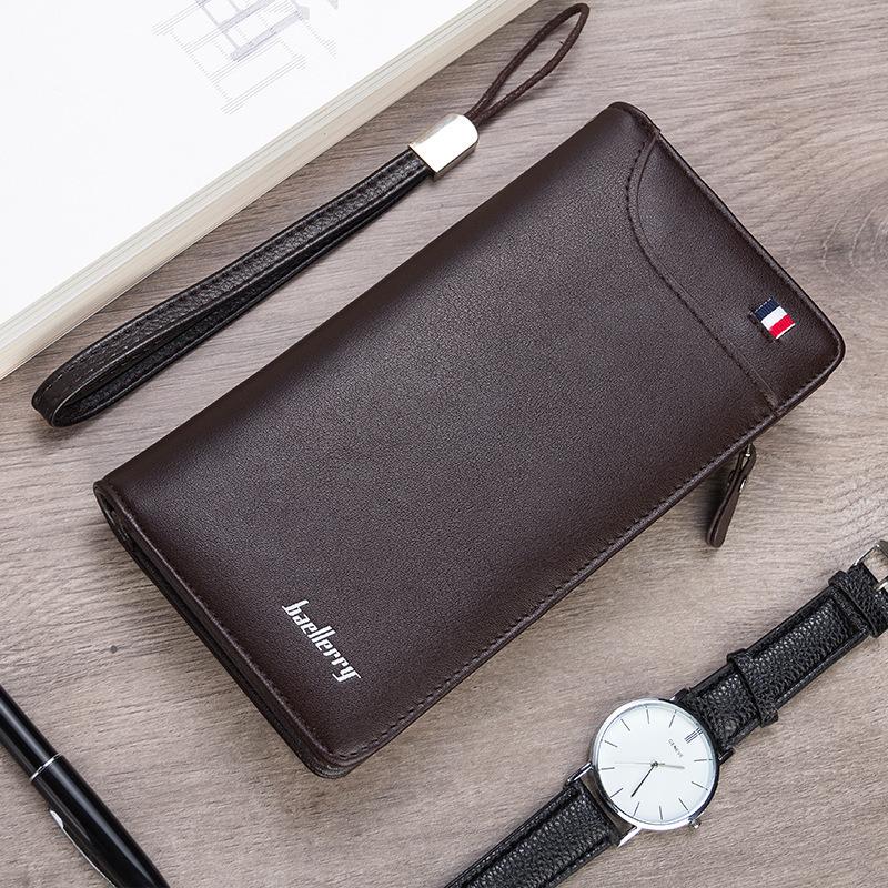 新款时尚男包 韩版横款钱夹 皮质休闲手拿包 多功能中长款防盗钱包