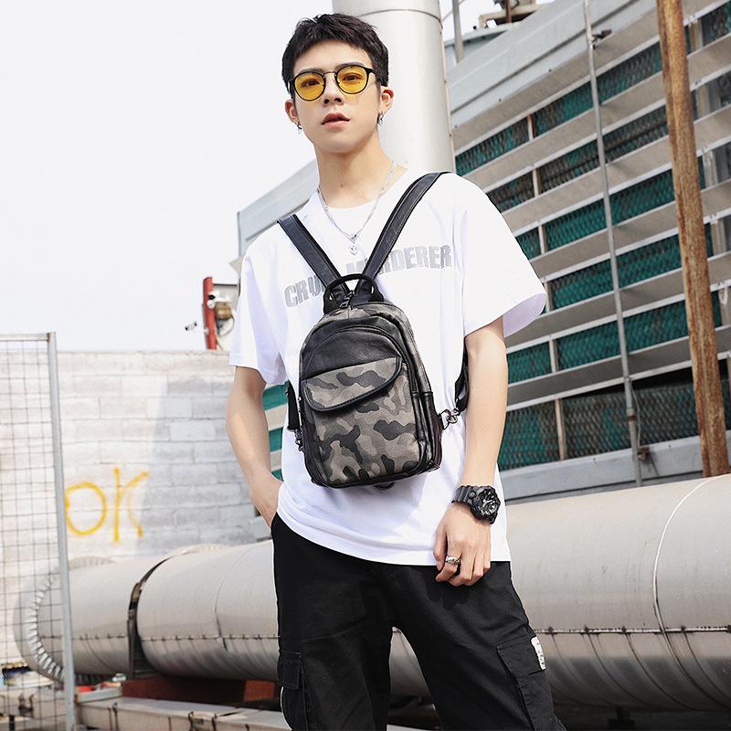 新款时尚 韩版男包 韩系斜挎包 潮流迷彩小背包潮 双肩单肩两用包