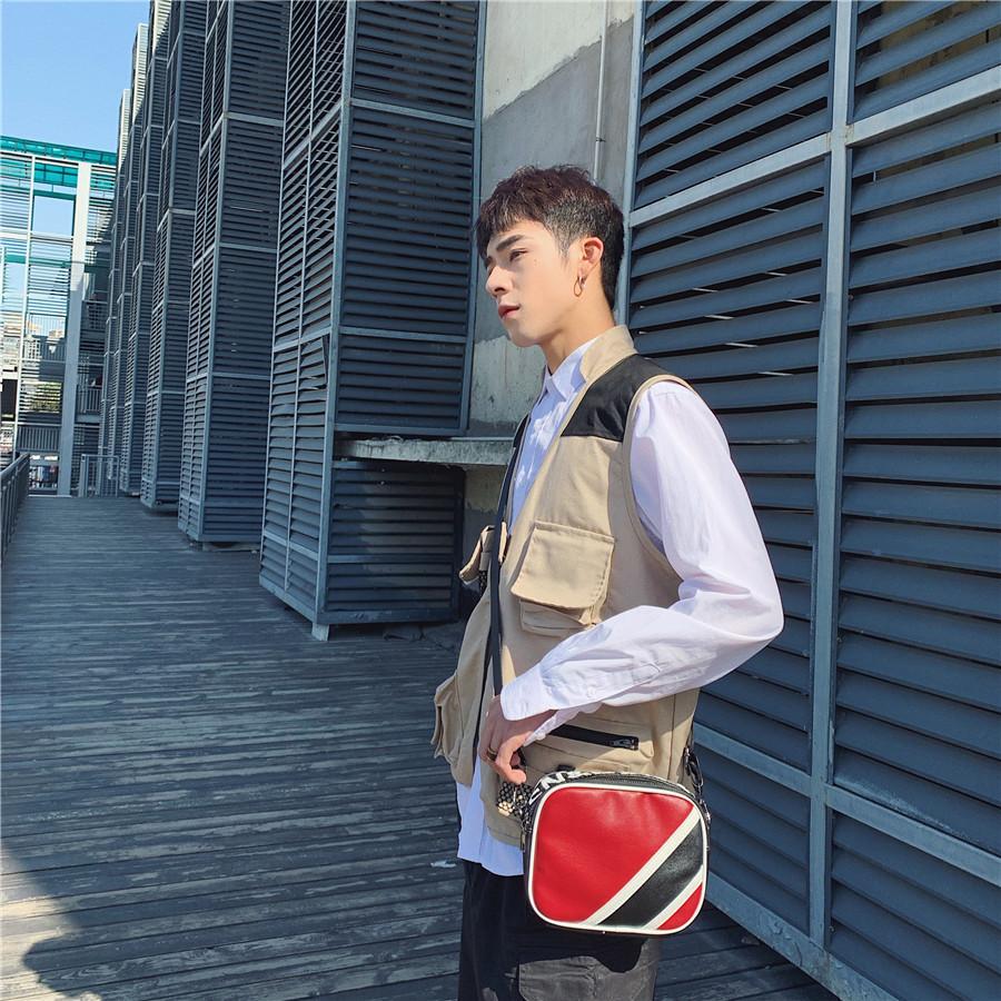 新款时髦 韩版运动单肩包 青年斜挎包 时尚皮质单肩包 户外休闲小包