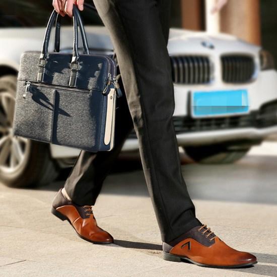新款时尚男士商务正装皮鞋 真皮男鞋 英伦风范真皮正装男鞋
