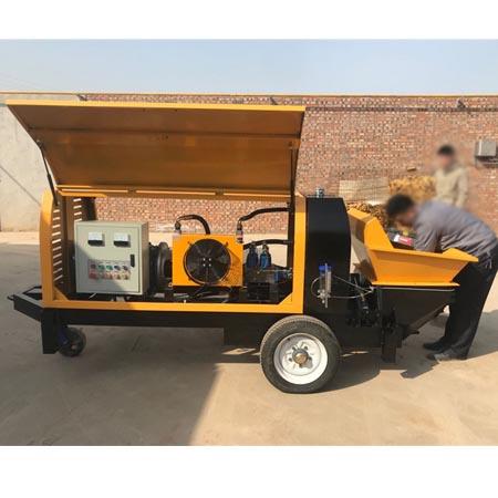 新型全液压卧式细石泵 二次构造柱泵 砂浆小细石混凝土泵
