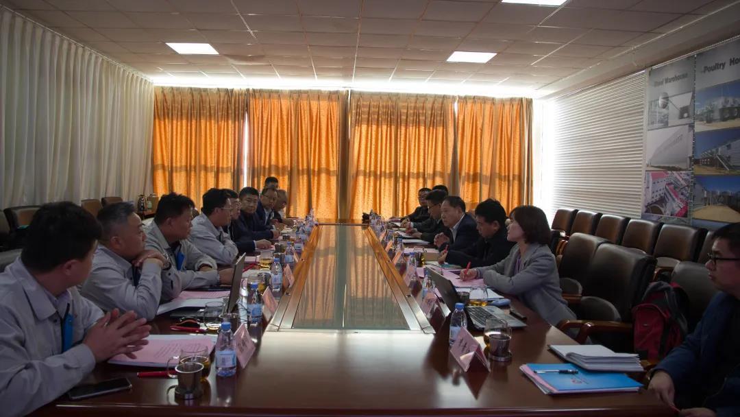 山东省农业机械科学研究院党委书记一行到我司考察调研