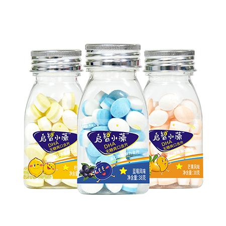 启智小藻DHA爽口含片(三角瓶)