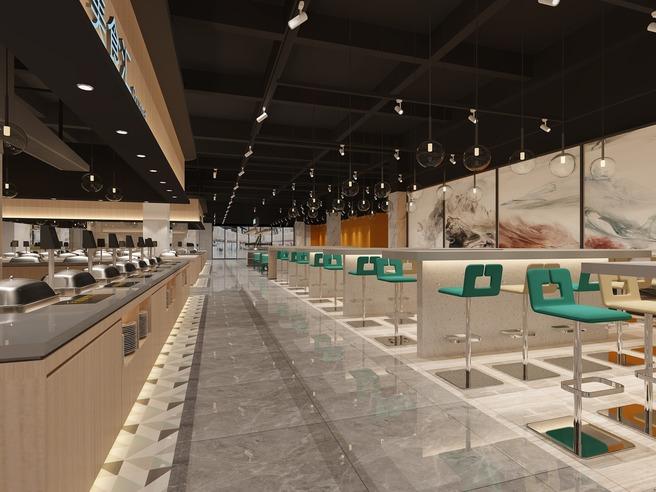 集菜菜智能餐厅设计·南美世贸中心店