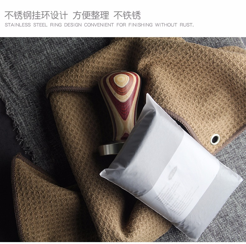 barcafe咖啡师专用毛巾咖啡厅奶茶咖啡机店餐厅吸水毛巾奶泡清洁