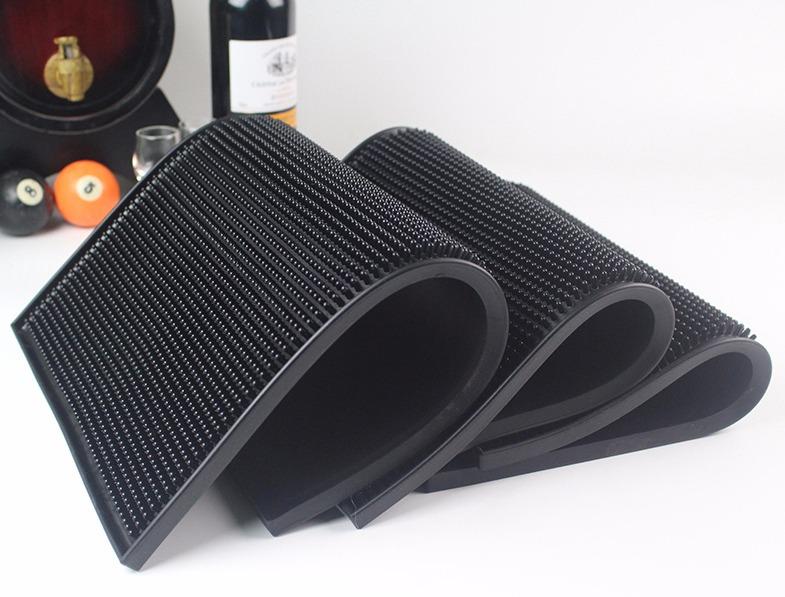 Barcafe 吧台垫 酒吧KTV吧垫长方形巴垫 隔水垫橡胶防滑高脚杯垫