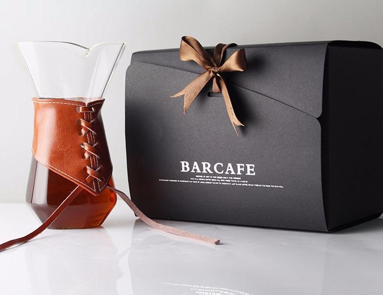 barcafe手冲咖啡壶套装 不锈钢滤网玻璃分享壶家用滴漏式咖啡过滤
