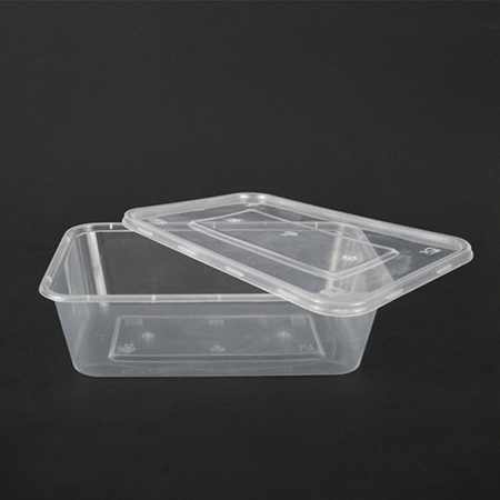 Rectangular plastic box 650ml (can be used in microwave oven)