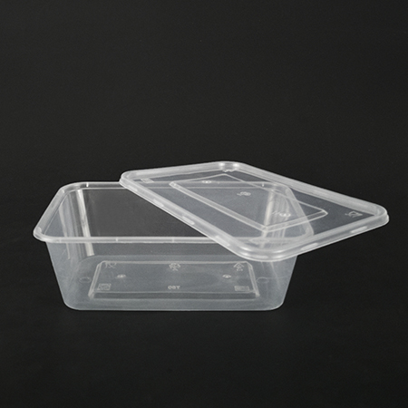 Rectangular plastic box 750ml (can be used in microwave oven)