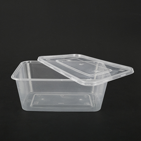 Rectangular plastic box 1000ml (can be used in microwave oven)