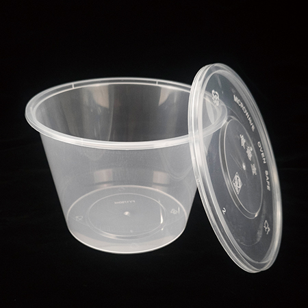 1750ml round plastic bowl  (can be used in microwave oven)