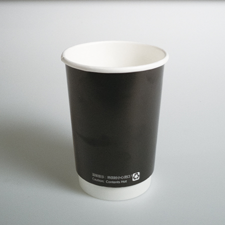 14 oz Double layer hot paper cup (Black hollow)